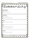 Summarizing Fic. Text- Common Core RL 2.2- Graphic Organiz