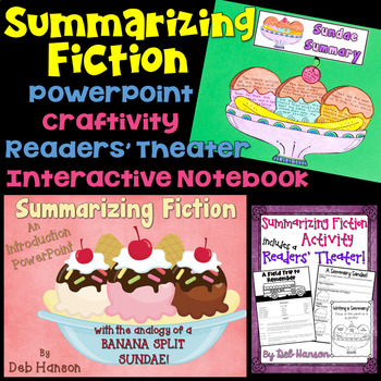 Summarizing Fiction A Bundle Of Activities By Deb Hanson TpT