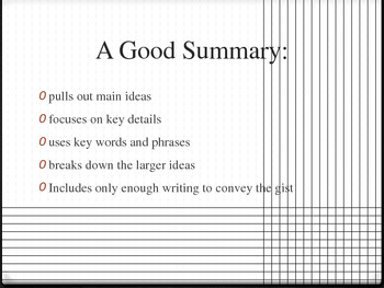 Summarizing Fiction Power Point