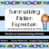 Summarizing Fiction S*W*B*S*T – Center Activity+ Mini-Poster+ Graphic Organizers