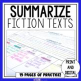 Summarizing Fiction Text | Summarizing Passages | SWBST Graphic Organizer