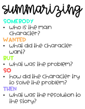 """Summarizing Fiction Using SWBST """"Somebody, Wanted, But, So, Then"""" Format."""
