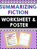 Summarizing Fiction - Worksheet and Poster-Somebody, Wanted, But, So, Then