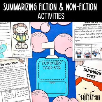 Summarizing Fiction and Non-fiction Activities THE  BUNDLE