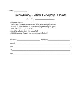 Summarizing Fiction and Nonfiction Texts