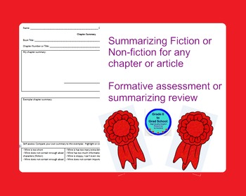 Summarizing Formative Assessment or HW for any book/article