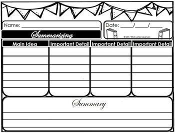 Summarizing Graphic Organizer(2)