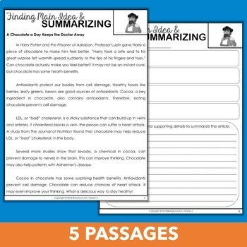 Summarizing Informational Text Practice Pack