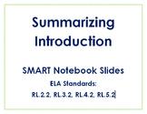 Summarizing Introduction Smart Board Lesson