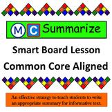Summarizing Lesson and Graphic Organizer