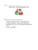 Summarizing Literary Text Assessment