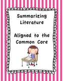 Summarizing Literature - Fab Five Summary