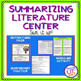 Summarizing Literature Activity or Center - CCSS RL.5.2