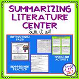 Summarizing Literature Activity or Center - CCSS RL.5.2