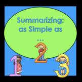 Build Comprehension through Summarizing