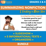 Summarizing Nonfiction Text Unit (Passages & Worksheets in PDF or Google Drive)