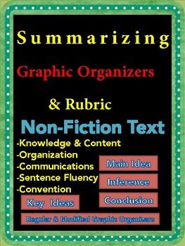 Summarizing Non-Fiction Text Rubric & Graphic Organizers