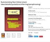 Summarizing Nonfiction Bundle (for informational writing-main idea/details)