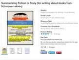 Summarizing Non-fiction and Summarizing Story-Bundle (for informational writing)