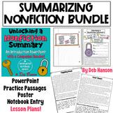 Summarizing Nonfiction: A Bundle of Activities!