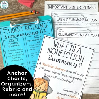 Summarizing Nonfiction Activities and Task Cards