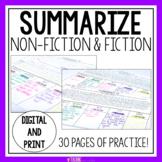 Summarizing Nonfiction & Fiction Passages | SWBST Graphic Organizer | Summary