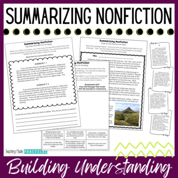 Summarizing Nonfiction Text - Includes Passages to Summarize Informational Text