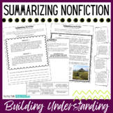 Summarizing Nonfiction Text / Informational Text - Includes Reading Passages