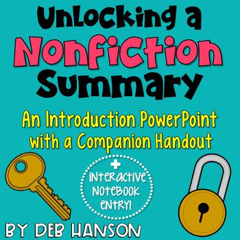 Summarizing Nonfiction Activities Worksheets TpT