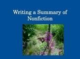 Summarizing Nonfiction Powerpoint
