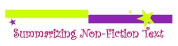 Summarizing Nonfiction Text Poster