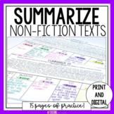 Summarizing Nonfiction Text   Summarizing Worksheet   SWBST