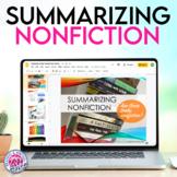 Summarizing Nonfiction Texts Mini Unit with Presentation,
