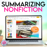 Summarizing Nonfiction Texts and Informational Texts Scaffolded Mini Unit