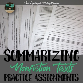 Summarizing Nonfiction Texts Practice