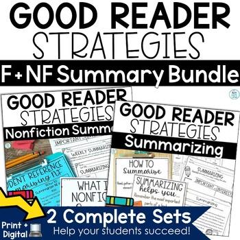 Summarizing Nonfiction and Fiction Activities Bundle