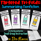 Summarizing Nonfiction Small Group Instruction: Four Tri-f