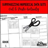 Summarizing Numerical Data Sets Cut & Paste Activity