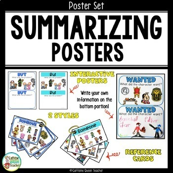 Summarizing and Retelling Poster Set For Any Story