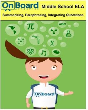 Summarizing, Paraphrasing, and Integrating Quotations-Inte