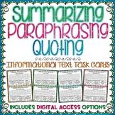 Summarizing Paraphrasing Quoting | Distance Learning