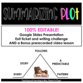 Summarizing Plot Lesson and video | Distance Learning and