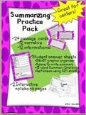 Summarizing Practice Pack