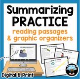 Summarizing Practice Activities: Reading Passages & Graphi