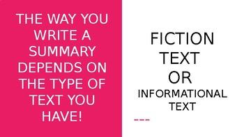 Summarizing, Quoting Text, Infrencing