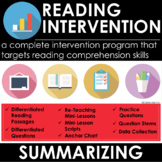 Summarizing - Reading Comprehension Passages and Questions