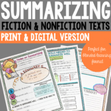 Summarizing Activities - Fiction & Nonfiction (Print & Distance Learning)
