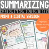 Summarizing Activities - Fiction & Nonfiction (Print & Dis