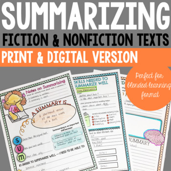 Summarizing Reading Comprehension Skills for Grades 3, 4, 5