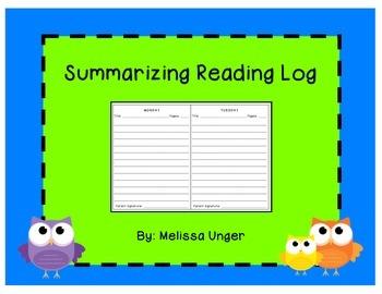 Summarizing Reading Log